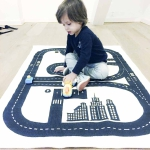 Black and white play rug from H&M