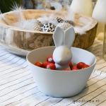Easter: DIY bowl with easter bunny for the little easter eggs