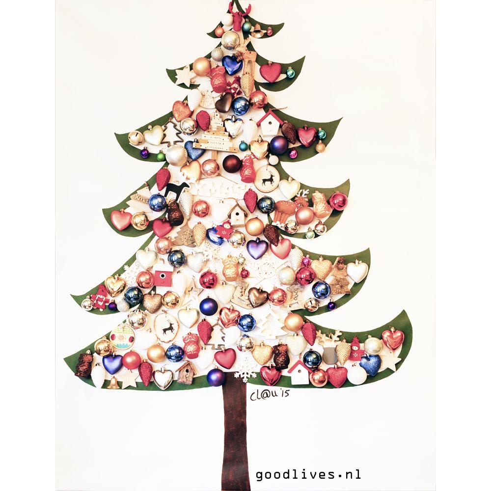 Alternatieve kerstboom op doek DIYIG