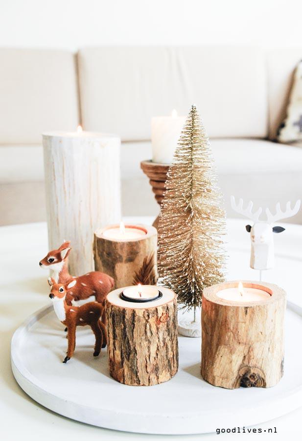 Christmas 2016 with deers and wood